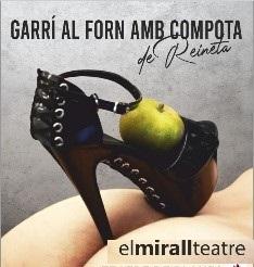 GARRÍ AL FORN AMB COMPOTA DE REINETA